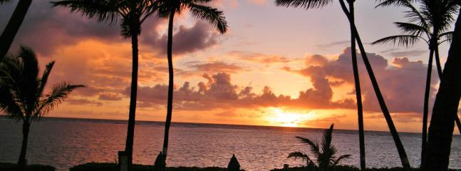This sunrise was taken from our lanai.