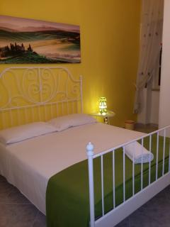 yellow room : 1 double bed  + private bath= 65 Euro