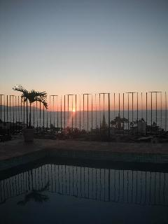 Fantastic view of sunset from pool area