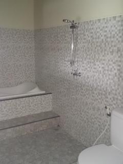 Spotless spacious washroom