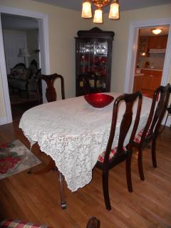 entertain in the dining room