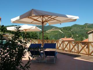 Spacious Chianti apartment with pool access, terrace and outdoor dining area, Gaiole in Chianti