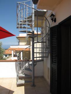 Spiral Staircase to Bella Vista Sun Terrace