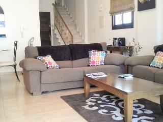 Lounge area. The double sofa is also the sofa bed