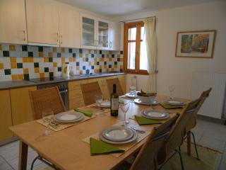 Your fully equipped kitchen and inside dining area