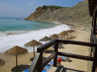 View from Burgau Beach bar