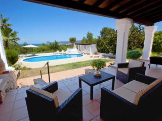 Villa Marlis Ibiza. The swimingpool from the main terrace. http://www.villamarlis.com