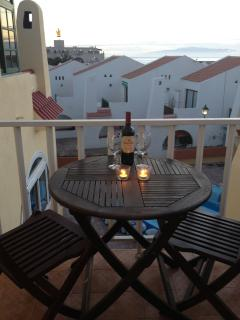 Watch the sun go down over La Gomera from the upstairs balcony off main bedroom