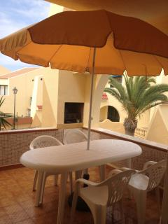 Downstairs terrace with built in BBQ