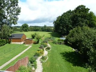 Private gardens with access to our 3 acre field