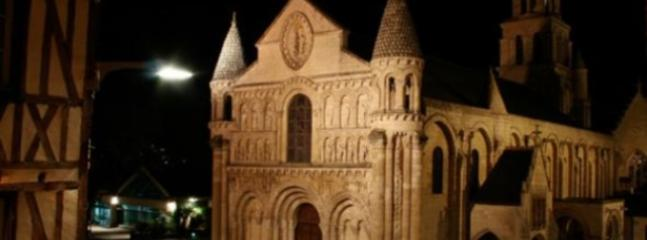 Notre Dame La Grande in Poitiers by Night