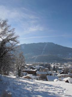 View from the chalet in the ski season