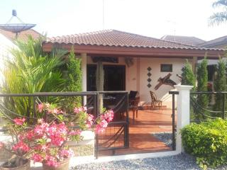 SMALLER VILLA HAS ITS OWN ENTRANCE, TERRACE AND PATIO AREA, ALSO ENCLOSED GARDENS