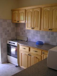 The fully eqipped fitted pine kitchen
