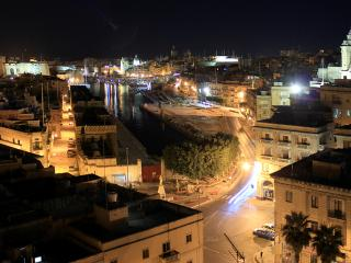 Old Harbour at night.