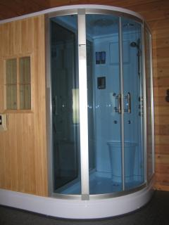 Steam shower with sauna cabin two