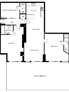 Floor plan - 1300 sq ft