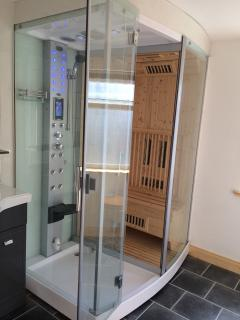 Refresh in a large bathroom with the addition of a sauna to revitalise those tired bones!