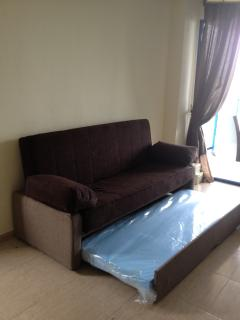 Double sofa bed with pull out single bed sleeps 3