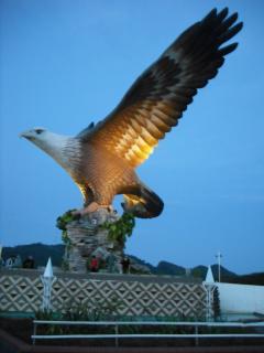 The white crested eagle at Eagle Square
