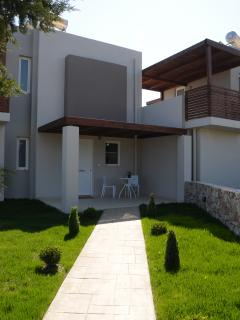 Entrance to your villa with private parking