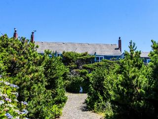 Quiet oceanfront getaway w/ocean views, walk to beach - dogs ok!, Waldport