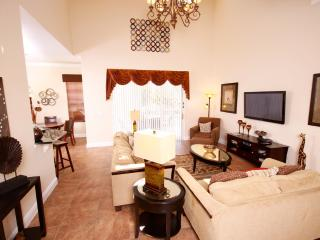 Large open plan living / dining / relaxation area with direct access to the pool