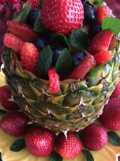 Breakfast Pineapple Fruit Medley