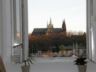 Cosy loft with Prague Castle view