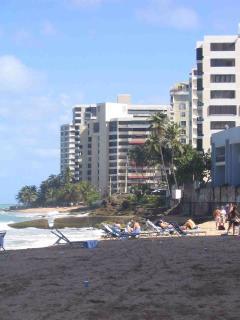 Condado beach is just a short two blocks away