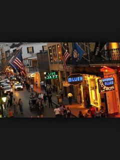 Bourbon Street in French Quarter