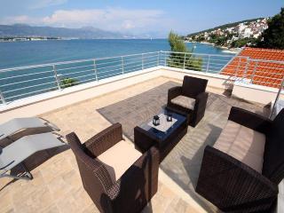 Luxury villa Silvana first row to sea near Trogir