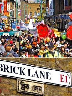 Brick Lane - full of bars, restaurants and the famous street markets (5 minutes walk)