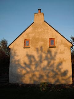 Autumnal sun on the gable end