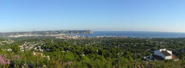 Looking down onto the bay of Javea - The Jewel of the Costa Blanca