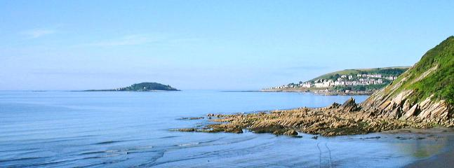 Looe Island in the distance