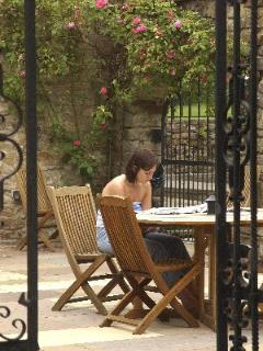 Relax in the Courtyard at Wolfen Mill and enjoy our extensive gardens