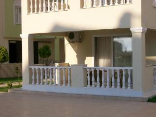 The apartment balcony