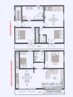Plan of the Penthouse Apartment