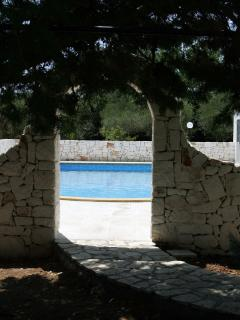 Entrance to pool