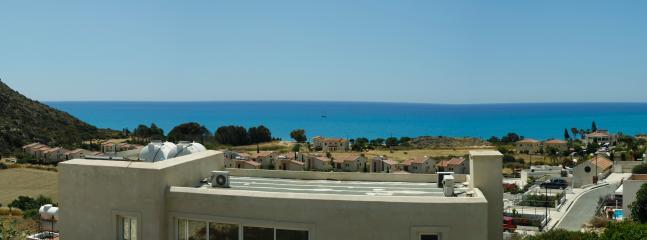 Pissouri Bay from the villa (panorama)