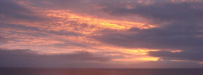 Sunrise from master bedroom balcony