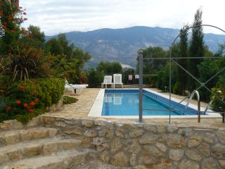 Private Pool Looking over Our Olive Grove and Bocce Ball Court