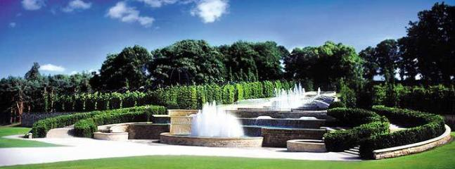 Alnwick Garden and Castle owned by the Duke and Duchess of Northumberland