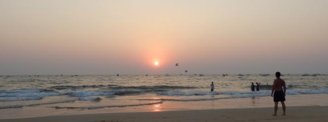 Sunset over Baga beach