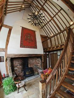 Entrance Hall with wood burner