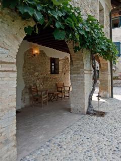 La Vicinia's arched portico on garden side