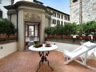 Unique terrace apartment steps from Ponte Vecchio in Florence