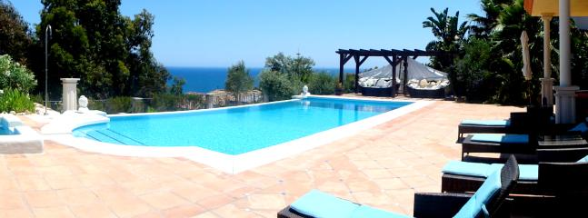 View over pool to sea