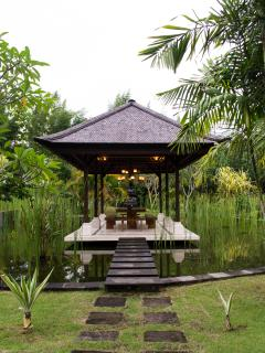 gazebo in the tropical garden